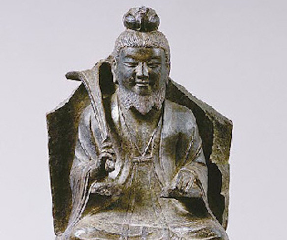 老子作为神,雕刻于7或8世纪